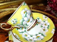 Royal Albert YELLOW HAND PAINTED ANEMONE FLORAL CHINTZY Tea Cup and Saucer
