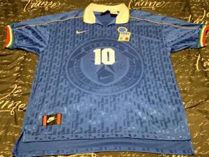 Nike Italy Home 1995 #10 R.BAGGIO Camisa Trikot Maillot Maglia Football Jersey