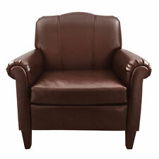 Premier Housewares 78.5x79x88.5cm Brown Bonded Leather Chesterfield Chair