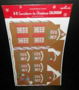 Hallmark 3-D Countdown-to-Christmas Calendar Gingerbread House