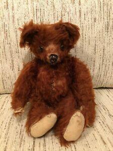 "Vintage Teddy Bear Long Cinnamon Mohair 12"" Knickerbocker?"