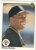 FREE SHIPPING-MINT-1990 Upper Deck Bobby Bonilla #366 PIRATES PLUS BONUS CARDS