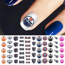 Edmonton Oilers Hockey Nail Art Decals - Salon Quality!