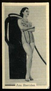 Tobacco Card, Murray Sons, BATHING BELLES, 1939, Ann Sheridan, #8