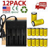 12pc CR123A 3.7V Li-Ion Rechargeable Batteries for Netgear Arlo Security Camera