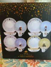 Disney Princess Designer 16 Piece Dinnerware Plate Bowl Mug Set Limited Edition