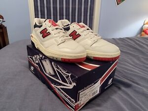 IN HAND New Balance 550 x Aime Leon Dore White Navy Red US Men's Size 11 NEW