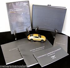 2012 Bentley Continental SuperSport Convertible  W/NAV Owners Manual Set #O784