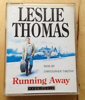AUDIO BOOK: Leslie Thomas - RUNNING AWAY on 2 x cass - Christopher Timothy
