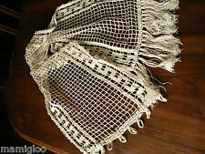 1 rideau ancien grille  pompons☺curtain old
