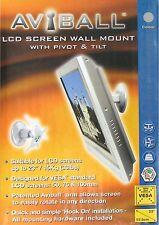 SHINY CHROME FINISH BTECH BT7519 AVIBALL LCD SCREEN TILT PIVOT SWIVEL WALL MOUNT