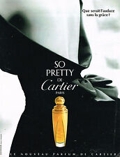 PUBLICITE ADVERTISING 034   1995   CARTIER   parfum  SO PRETTY