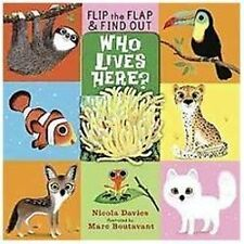 Who Lives Here? (Flip the Flap and Find Out)-ExLibrary