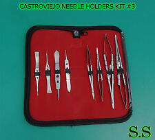 8 Pcs Or Grade Castroviejo Needle Holdersscissorssuture Tying Forceps Kit 3