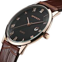 SANDA P188G/L Super slim Kalender-paar Uhren echt / authentisch Leder Uhrarmband