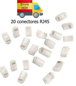 LOTE 20 CONECTORES TERMINALES CABLE RED CAT6 CAT5 Ethernet RJ45 ENVIAMOS HOY