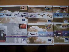 6 DIFFERENT FLIGHT/AIRCRAFT/AVIATION FDCs,EXCELLENT.