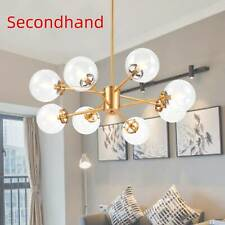 Secondhand 8 Light Chandelier Light With Clear Glass Shade