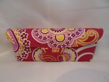 VERA BRADLEY Flip Top Cloth Case in Red Pink For Glasses 36mm Authentic Unused D