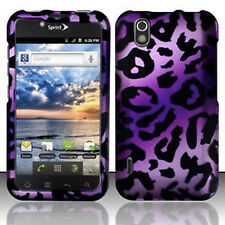 For LG Marquee Rubberized HARD Protector Case Snap on Phone Cover Purple Cheetah
