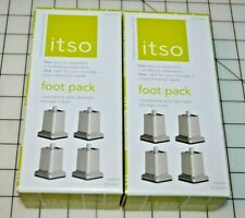 "2 - NEW ITSO Foot Packs -  add 2 1/2"" to Storage Cubes or Speaker Cabinets"
