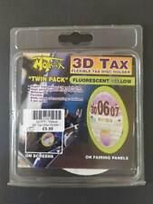 Motrax 3D Flexible Tax Disc Holder Fluorescent Yellow Twin Pack BC223941