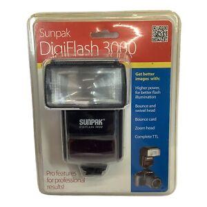 Sunpak 3000 Super Flash For Canon DSLR Camera W/ Bounce And Swilvel Head B2