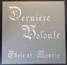 Dernière Volonté - Obeir et Mourir CD [RARE OOP INDUSTRIAL TMLHBAC LJDLP DIJ]
