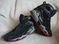 Nike Air Jordan 8 Retro Black Cement Size Uk 7 / US 8 - 305381-022 Bred