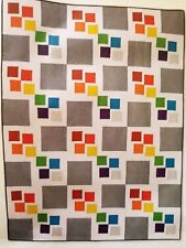 "Gray Square Scramble Quilting Kit from Fons & Porter w/ RJR Fabrics 54"" x 72"""