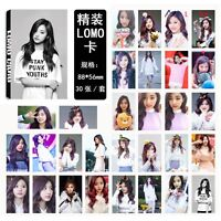 30pcs set Kpop TWICE Tzuyu Photo Picture Posters Postcard Lomo Card