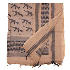 Shemagh / Arab scarf in Army military colours with AK-47 pattern Coyote / Sand