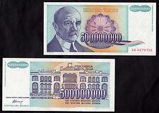 BANCONOTA YUGOSLAVIA 500.000.000  DINARA  FDS BANKNOTE UNC COLORATA UNC