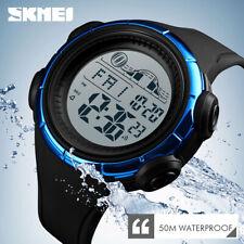 SKMEI 1379 Militar Reloj de pulsera deportivo Para Hombres 5ATM Reloj digital 4