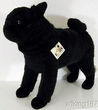 KOSEN Made in Germany NEW Custom Black Standing Pug Dog Plush Toy