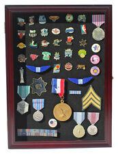 Lapel Pin / Button / Medal Display Case Wall Cabinet  with Glass Door, PC01-CHE