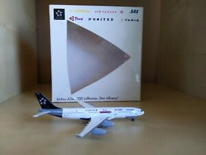 """Lufthansa """"Star alliance"""" Airbus 340-200 1:500 scale model by Herpa!"""