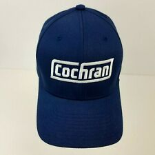 Cochran Embroidered Flex Fit Baseball hat ball Cap Blue Fitted Size S-M