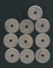 lot van 10 munten van 25 Centiem van Albert I ,,zie foto's ,Nr 3288 ,,ook thuis