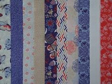 JELLY ROLL STRIPS 100% COTTON PATCHWORK FABRIC LARKSPUR 10 PIECES