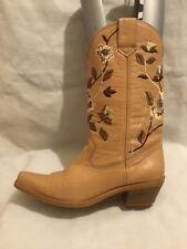 Ravel Kentucky Western Ladies Mid Calf Cowboy Boots Size UK 6 EU 39 Tan Leather