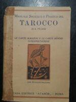 TAROCCO MANUALE SINTETICO PRATICO DI E. PICARD 78 ILLUSTRAZIONI 1947