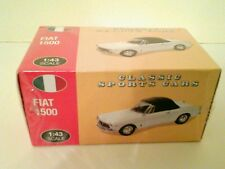 Atlas Editions Classic Sports Car Fiat 1500 Cabriolet 1:43 Convertible White New