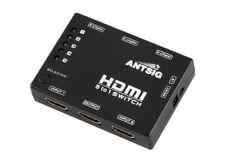 Antsig 5-WAY HDMI SWITCH WITH REMOTE 5xHDMI Inputs & 1xHDMI Output *Aust Brand
