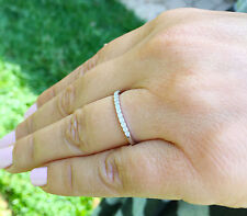 14k white gold round cut forever one moissanite band deco eternity style 0.30ctw