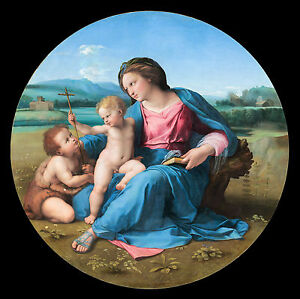 Raphael - The Alba Madonna, Christian Museum Art Poster, Canvas Print