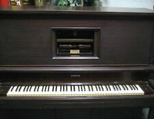 Player Piano - Vintage Story & Clark - w Bench & Music Rolls