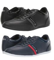 Lacoste Storda Sport 419 Men's Casual Leather Shoes Sneakers Black Navy Blue New