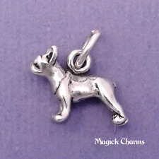 925 Sterling Silver 3-D BOSTON TERRIER Dog Charm Miniature Small Frenchie lp3542