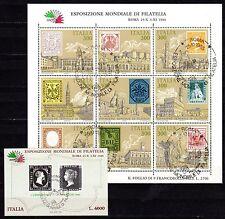 Italy - 1985 Stamp exposition Italia - Mi. 1945-53 KB + Bl. 1 FU